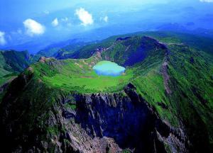 Baengokdam lake at the top of Hallasan