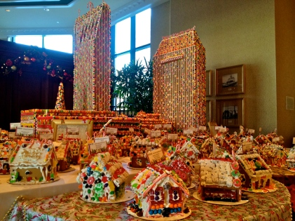 The hotel I used to work at - a miniature model made out of gingerbread :)