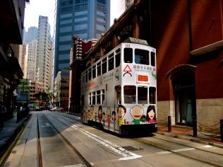 double decker trams!