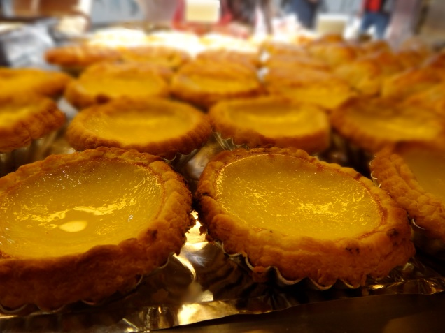 The popular and traditional egg tarts!