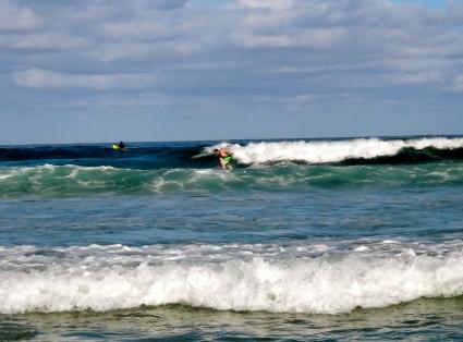 Nate surfing at Bondi Beach, Australia
