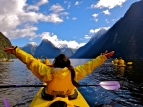 Kayaking at Milford Sound, New Zealand