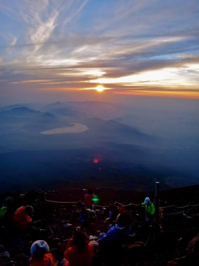 Sunrise at the top of Mt. Fuji, Japan