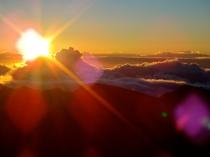 Sunrise at the top of Haleakala Volcano, Maui, Hawaii