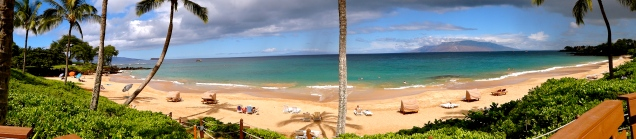 The beach connected to the Makena Beach and Golf Resort