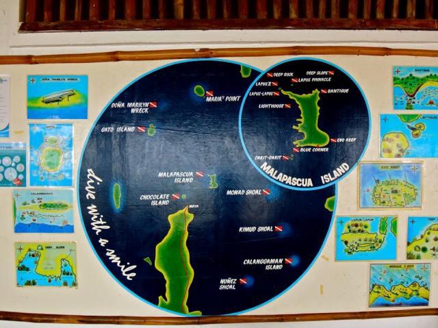 Dive Map at Sea Explorers